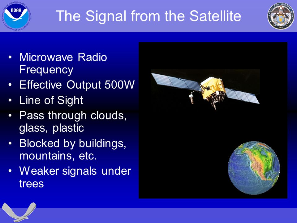 The Signal from the Satellite