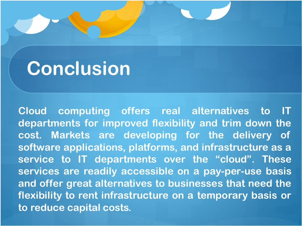 Advantages of cloud computing for business.