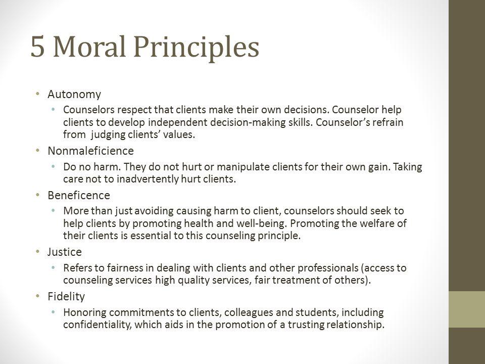5 basic ethical principles