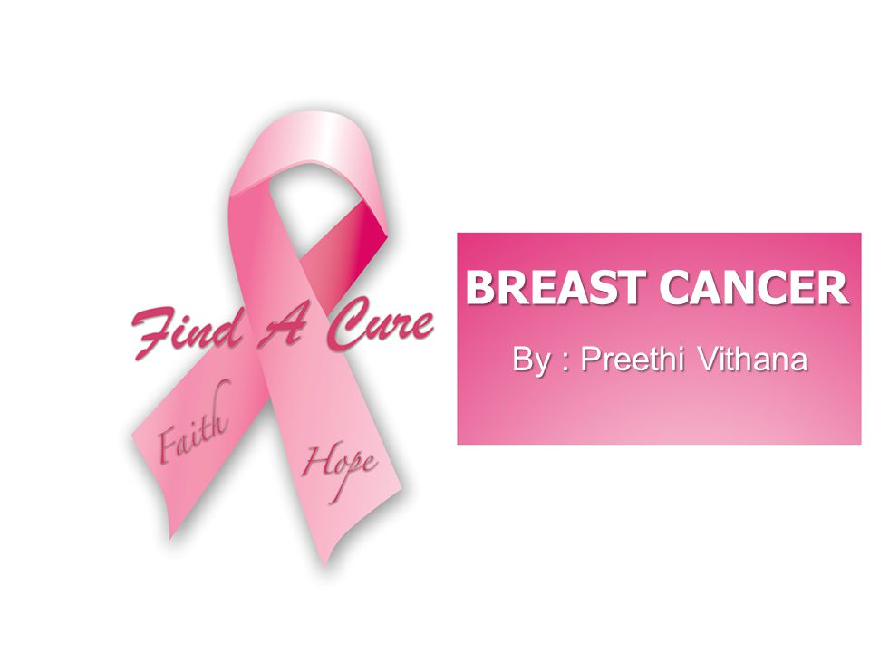 BREAST CANCER By : Preethi Vithana