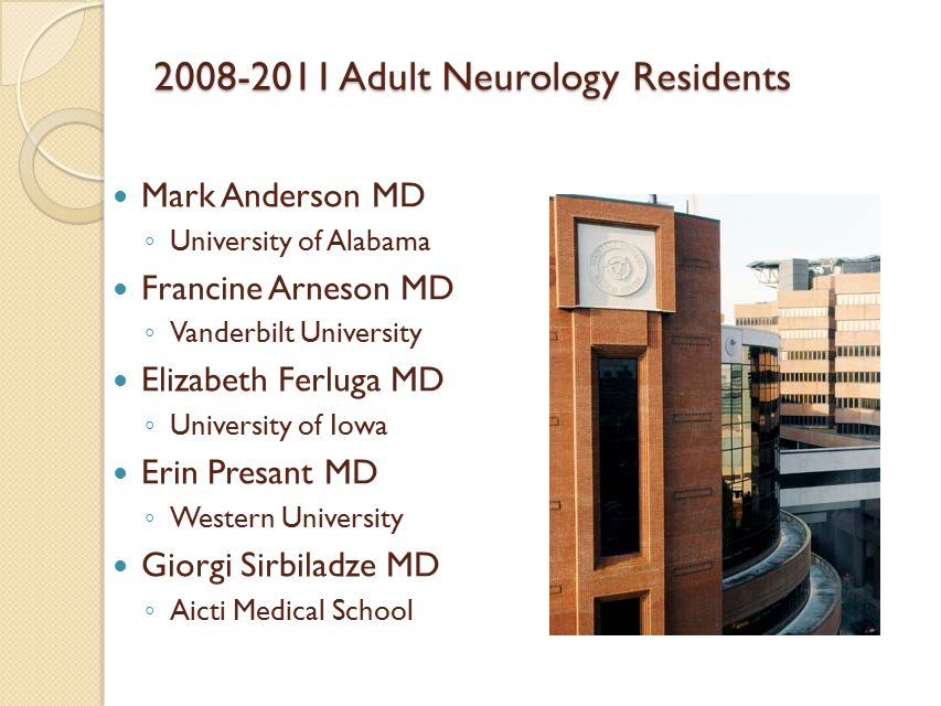 Neurology Residency Program Vanderbilt University Medical Center