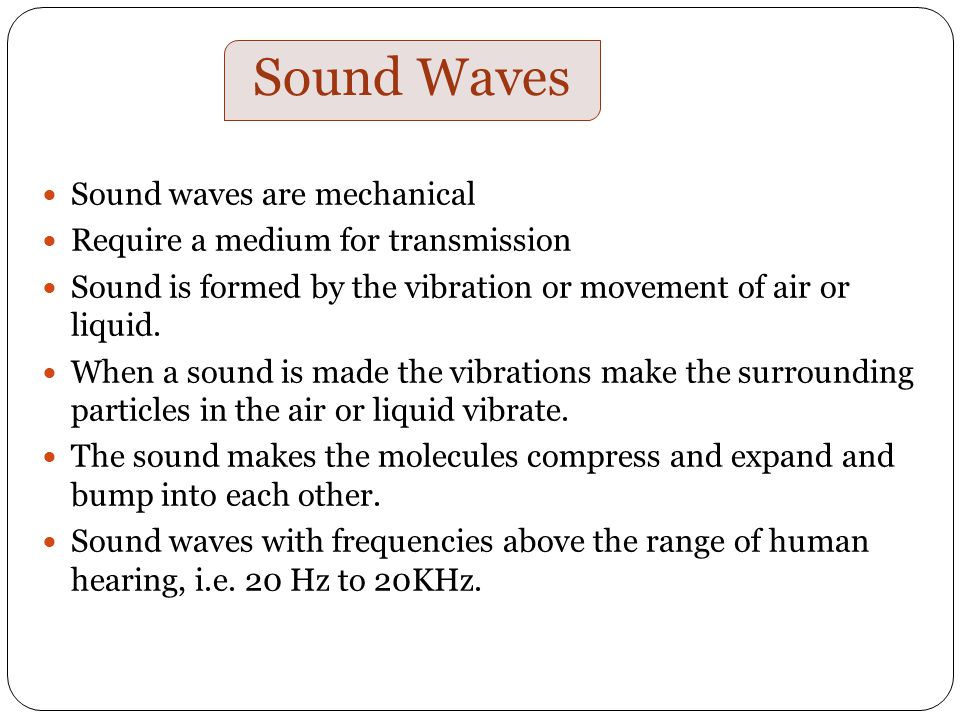 sound waves and ultrasound ppt download