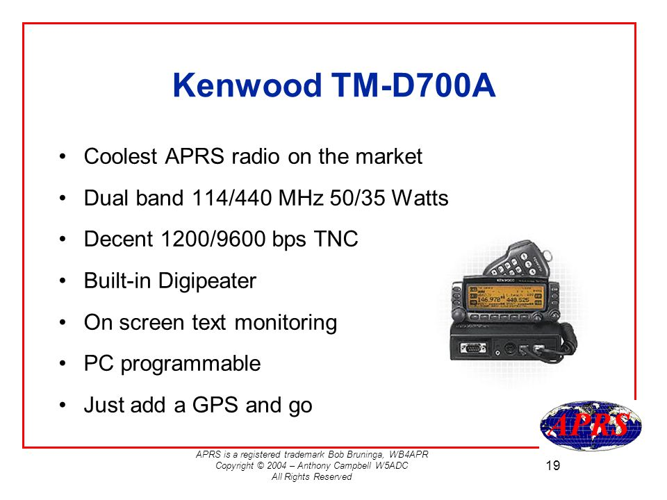 Using the Kenwood TM-D700A and TH-D7A - ppt download