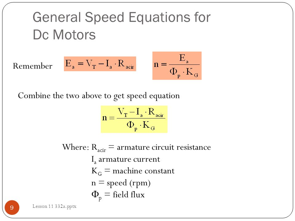Lesson 11: Separately Excited Motor Examples - ppt video