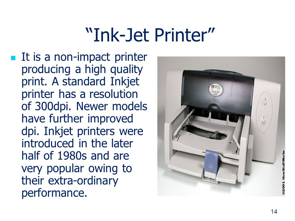 how ink jet printers work essay A 13-inch pigment-ink photo printer like the epson surecolor p600 lets you make gallery-quality color and black-and-white prints on a wide variety of paper surfaces.