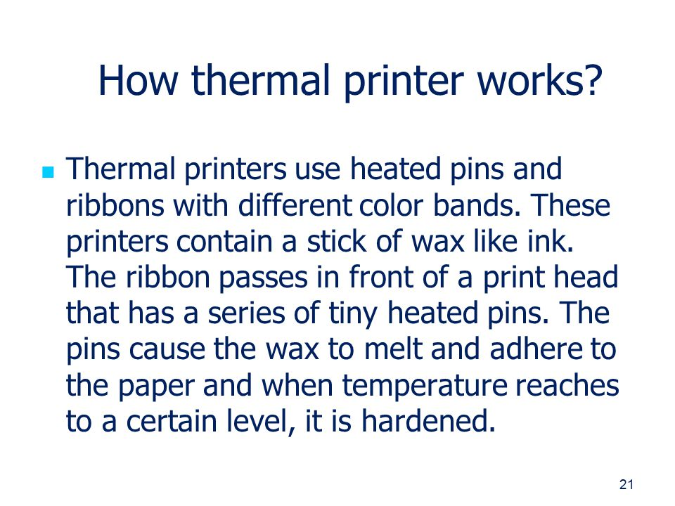Printer its types, working and usefulness - ppt video online
