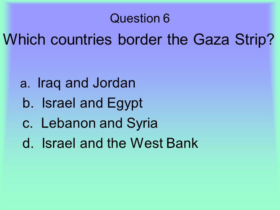 Which countries border the Gaza Strip