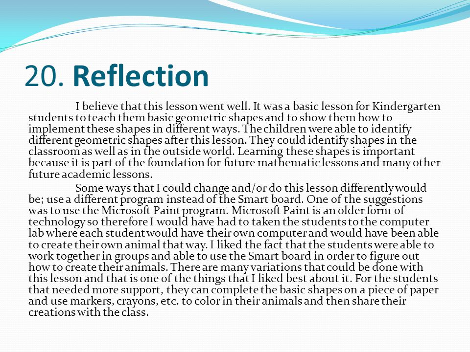 20. Reflection