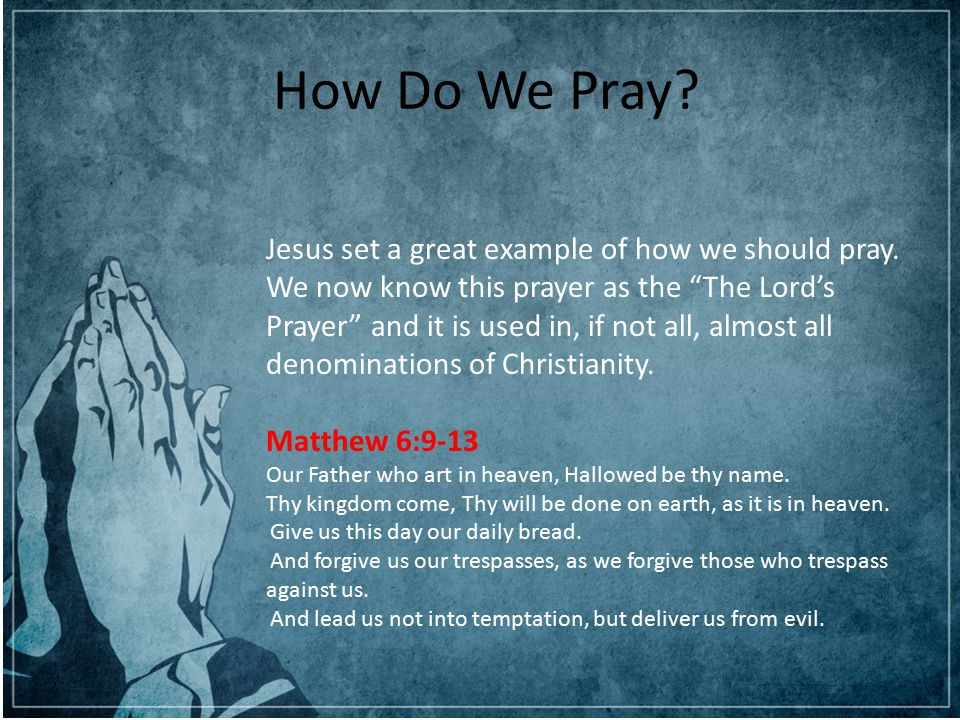 Can you hear me God? The Power of Prayer Presented to you by