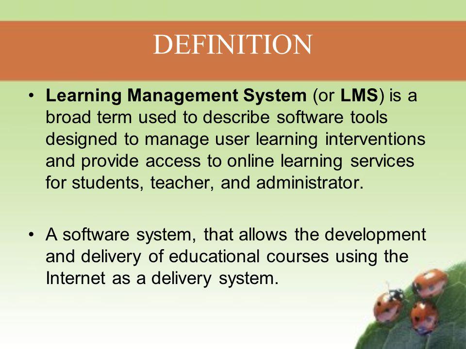 LEARNING MANAGEMENT SYSTEM (LMS) - ppt video online download