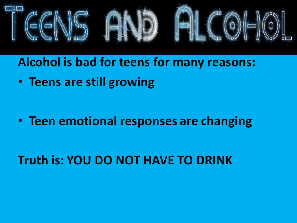 why alcohol is bad essay The reasons why people use drugs  reasons people abuse drugs  a young person may be trying to fit in with their peers and views using or alcohol drugs as a.