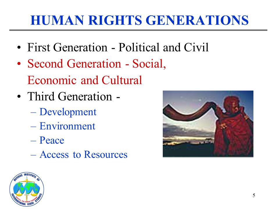 HUMAN RIGHTS GENERATIONS