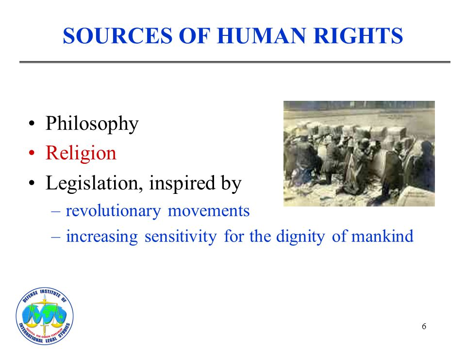 SOURCES OF HUMAN RIGHTS