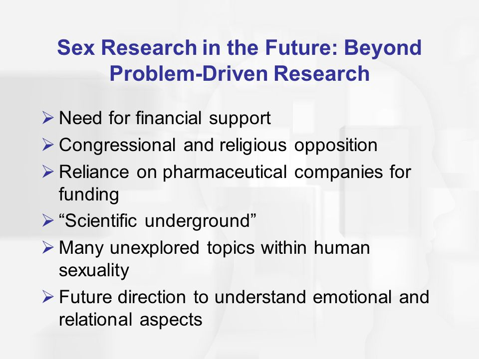 Human sexuality research projects