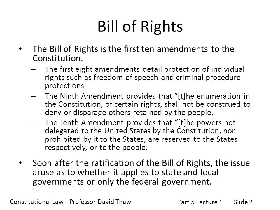 first ten amendments to the constitution