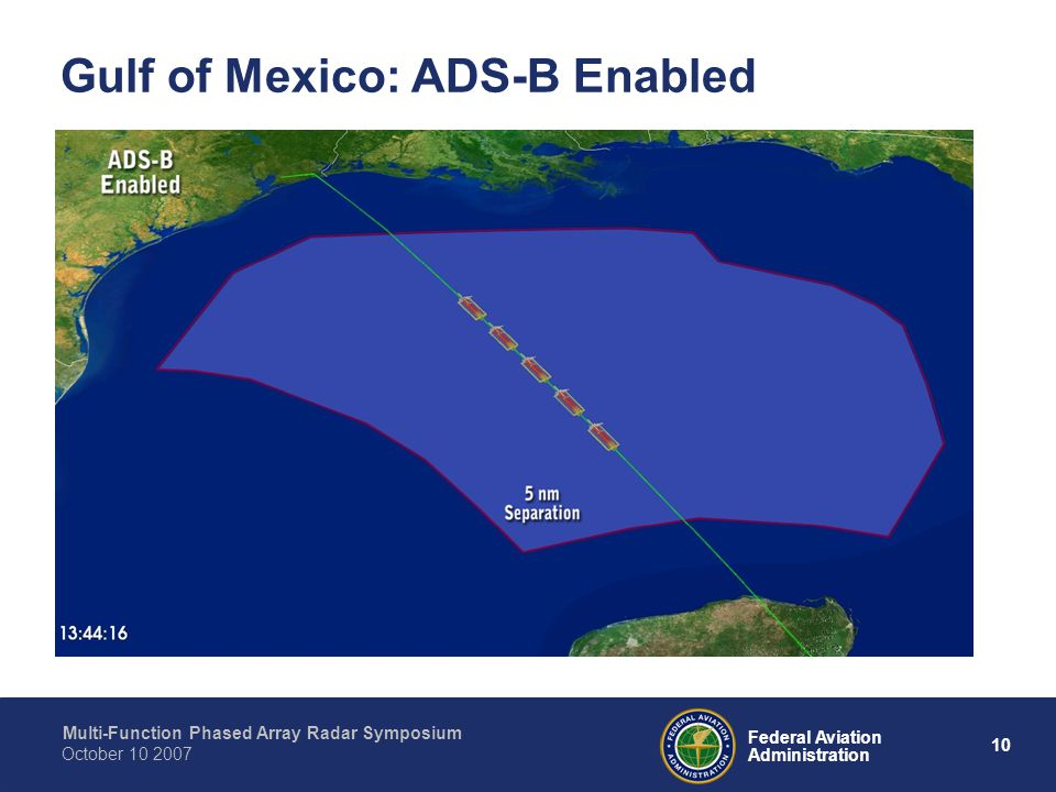 Gulf of Mexico: ADS-B Enabled