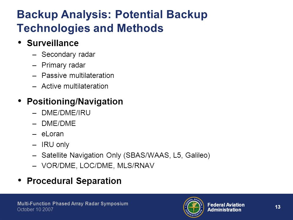 Backup Analysis: Potential Backup Technologies and Methods