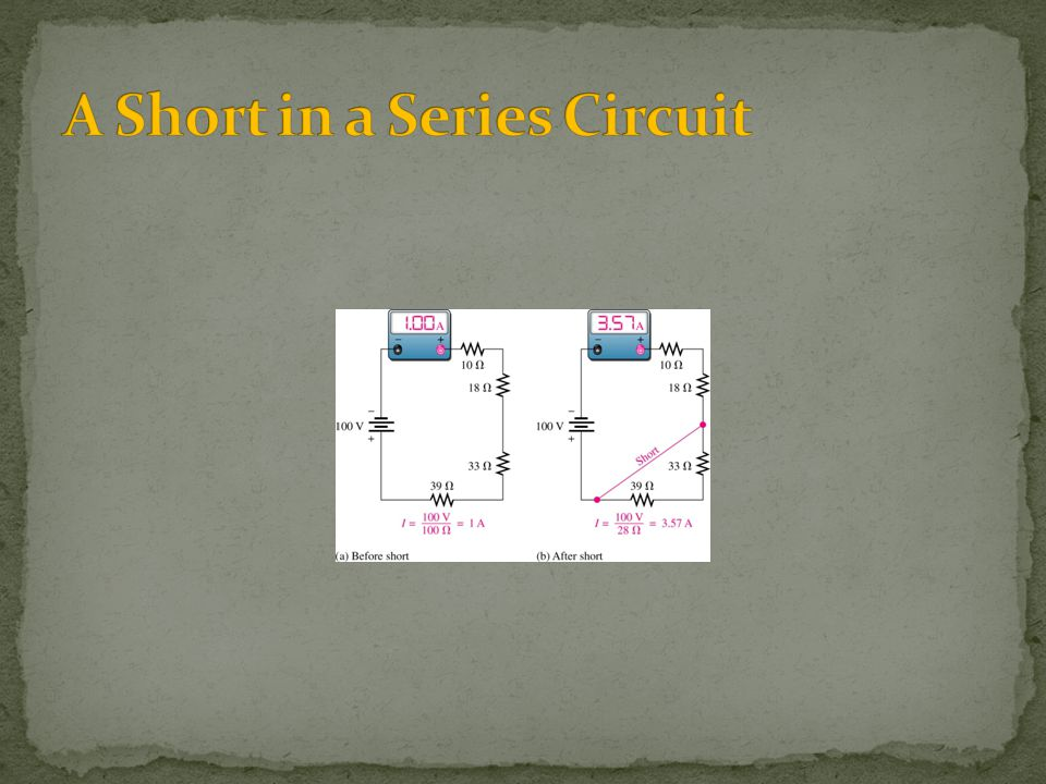 A Short in a Series Circuit