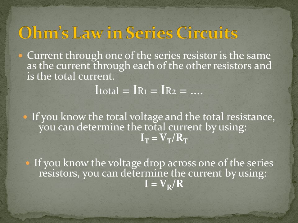 Ohm's Law in Series Circuits