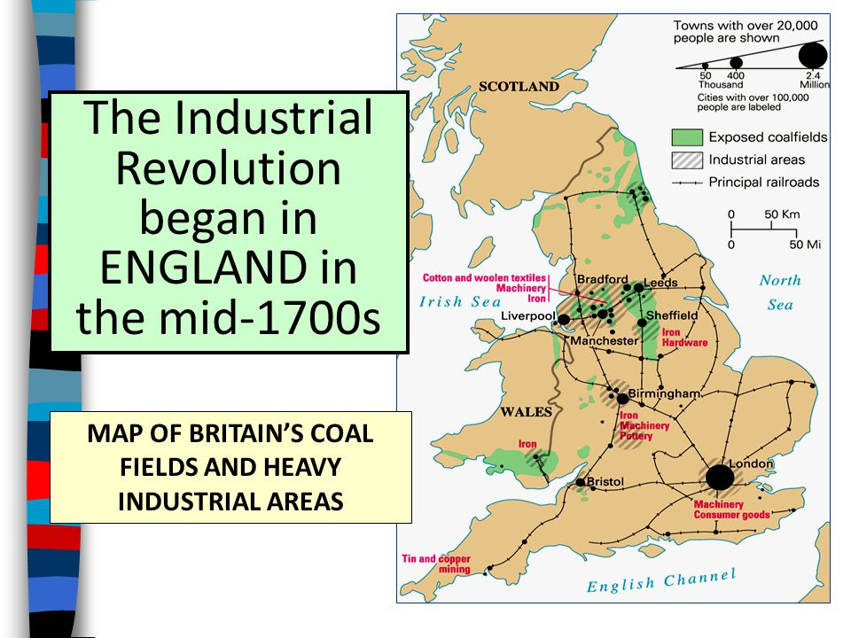 MAP OF BRITAIN'S COAL FIELDS AND HEAVY INDUSTRIAL AREAS