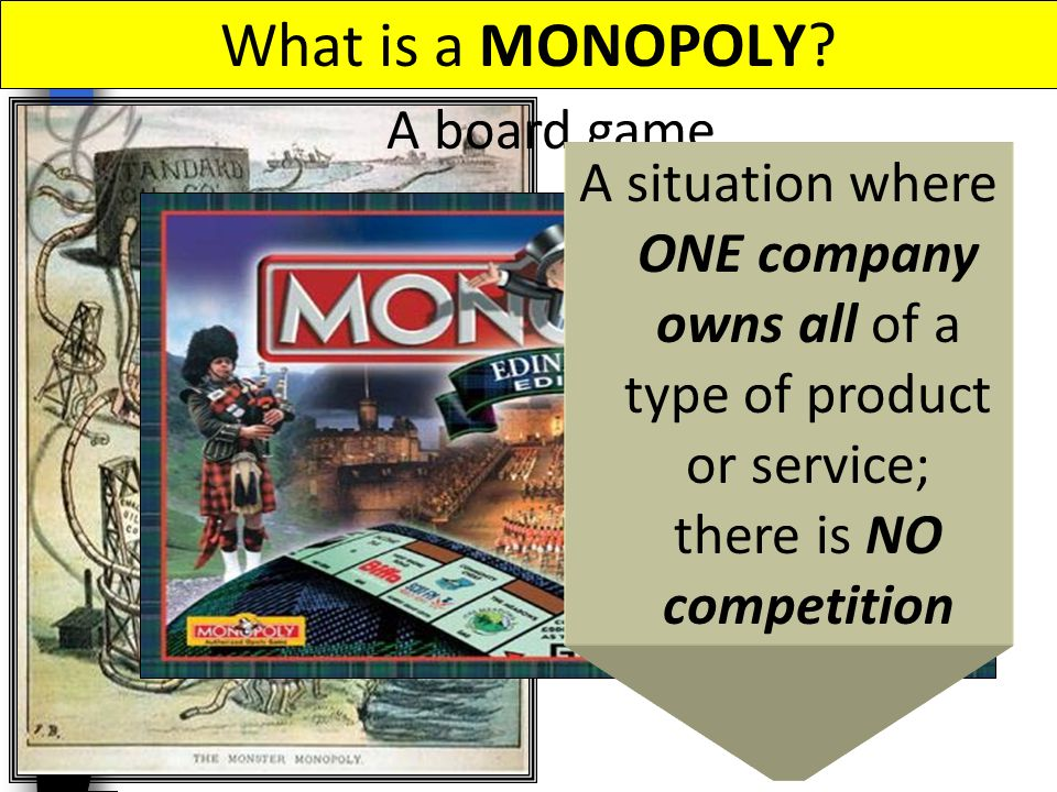 What is a MONOPOLY A board game