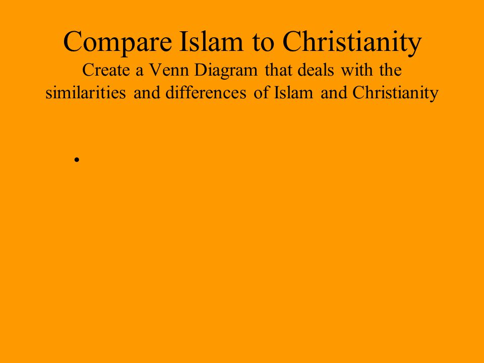 comparing islam and christianity Islam and christianity: views of god islam teaches that allah , or god, is the sovereign creator and ruler of all that is muslims emphasize god's absolute unity, which will admit of no division, and god's will.
