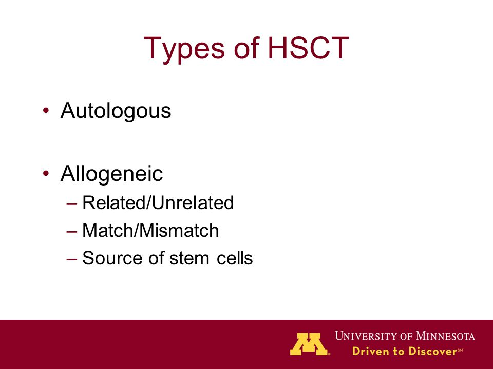 Hematopoietic Stem Cell Transplant Ppt Video Online Download