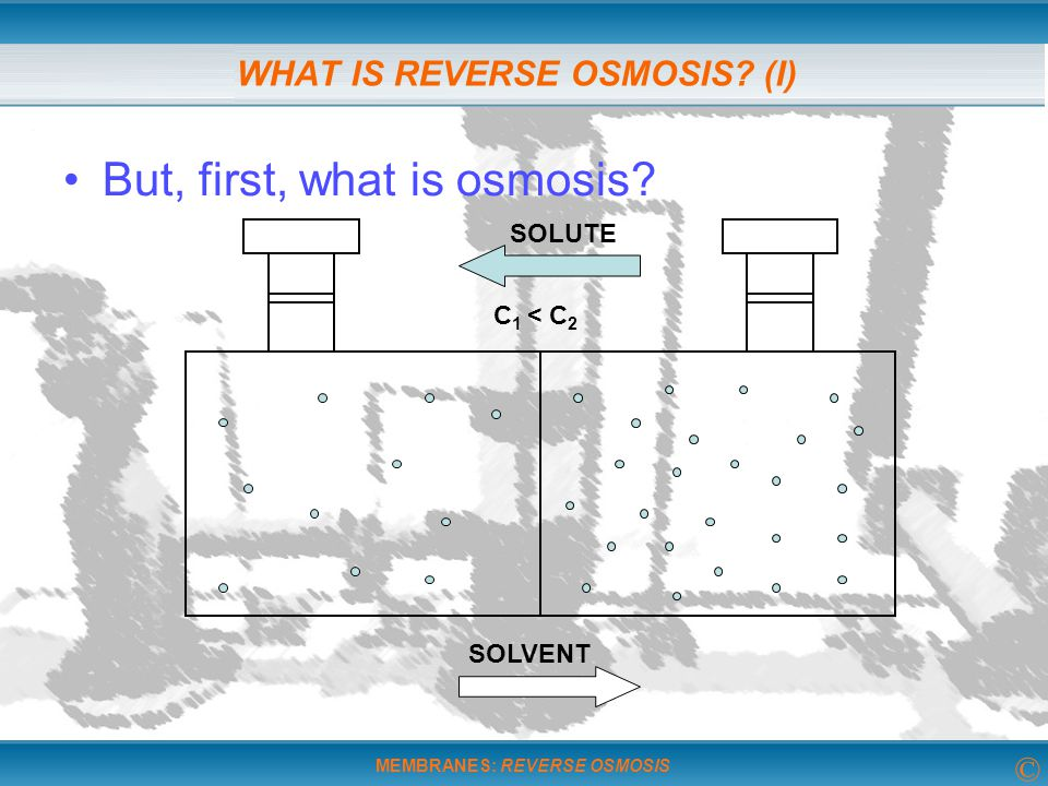 WHAT IS REVERSE OSMOSIS (I)