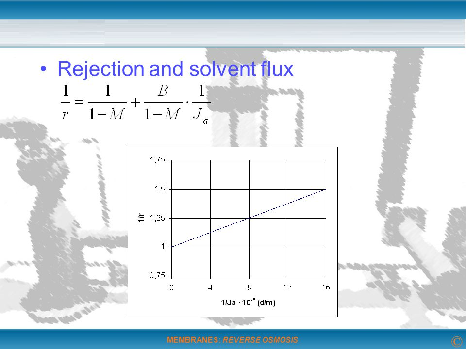 Rejection and solvent flux