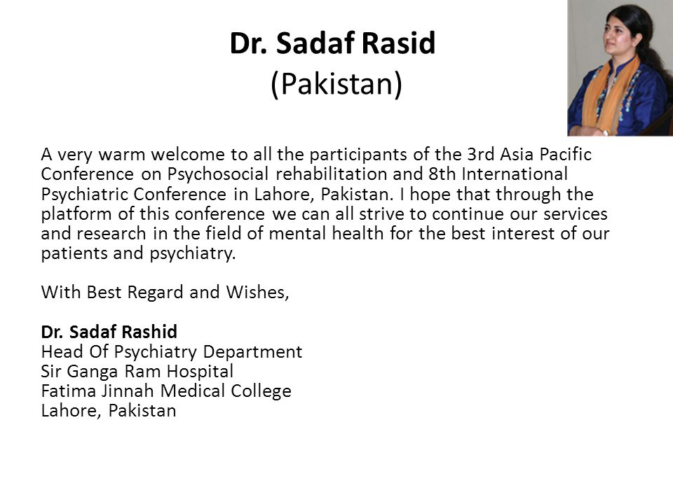 3rd Asia Pacific Conference on Psychosocial Rehabilitation