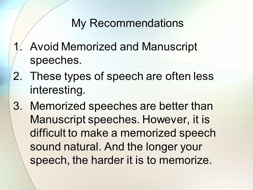 interesting speeches