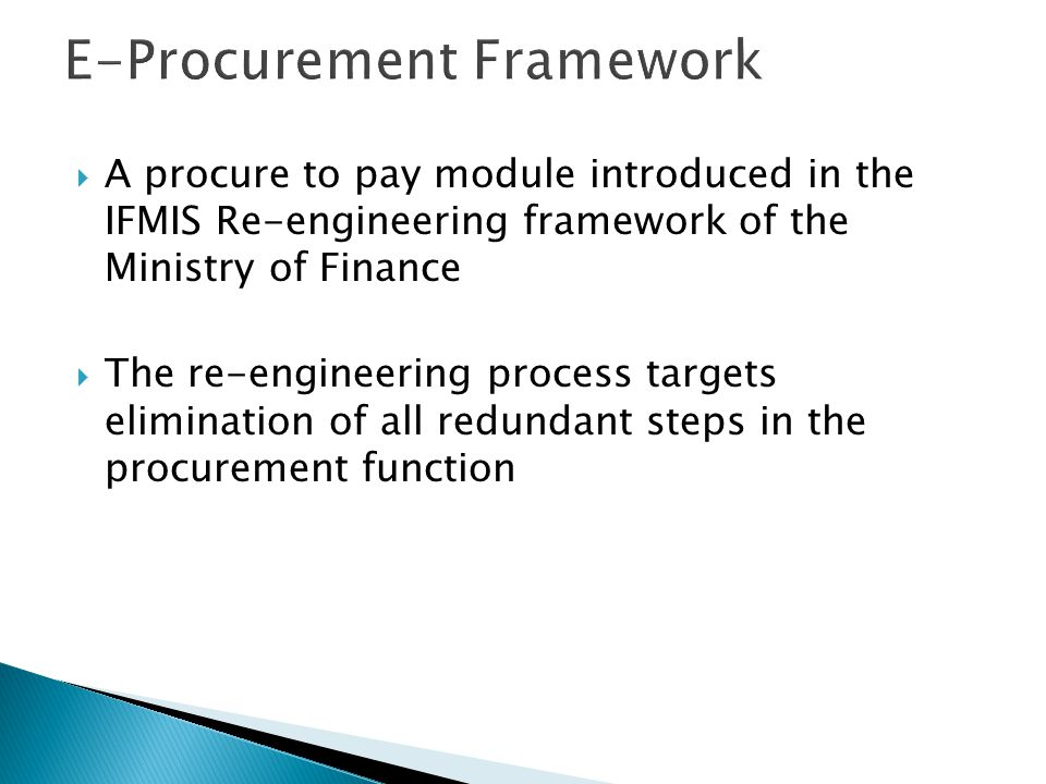 E-Procurement Framework