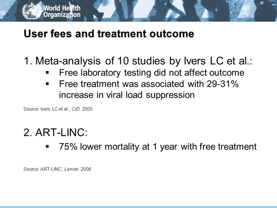 User fees and treatment outcome