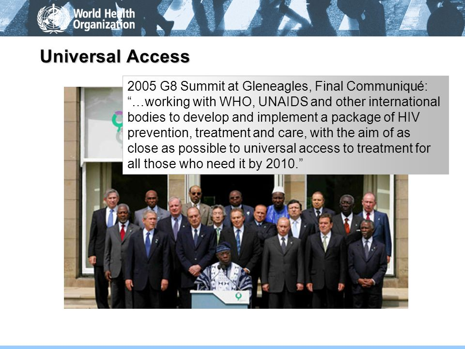 Universal Access 2005 G8 Summit at Gleneagles, Final Communiqué: