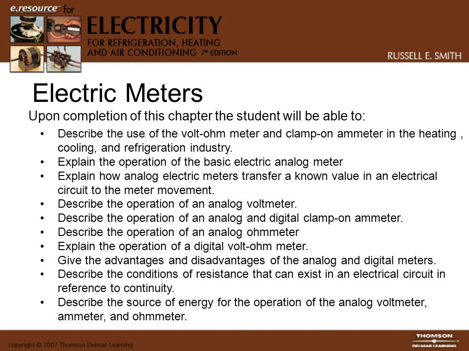 Electric Meters Electricity for Refrigeration, Heating and Air ...