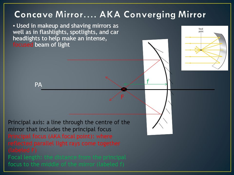 Curved Mirrors Sections 11 5 Ppt Video Online Download