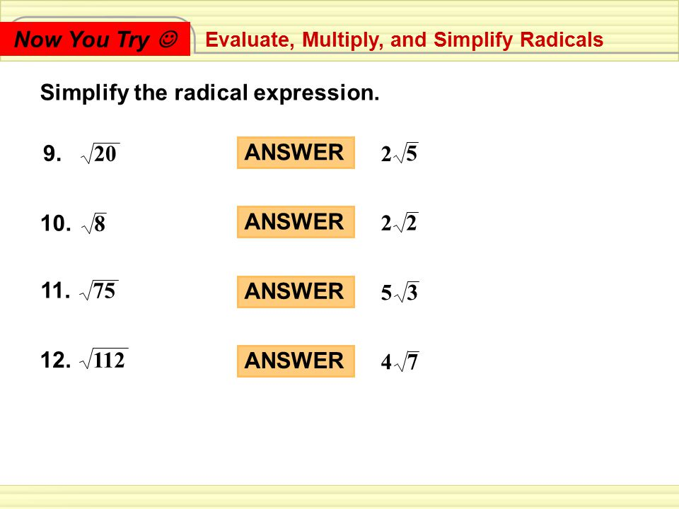 Simplify the radical expression.