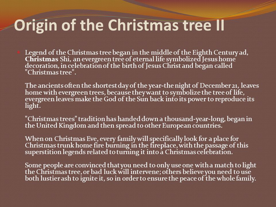 4 origin of the christmas tree ii - The Origin Of The Christmas Tree