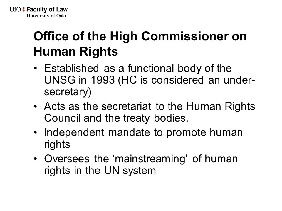 Humr5140 introduction to human rights law autumn ppt video - Office for the high commissioner for human rights ...