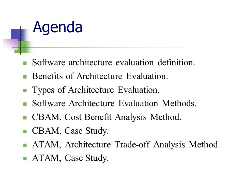 Software architecture evaluation - ppt download