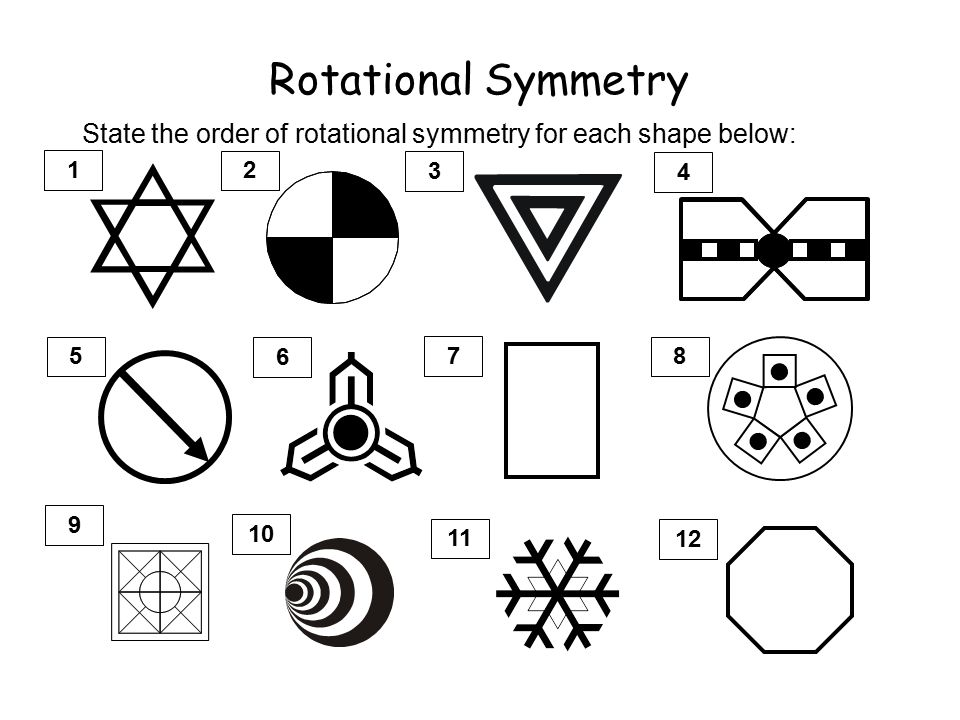Rotational Symmetry All 2 dimensional shapes have some rotational ...