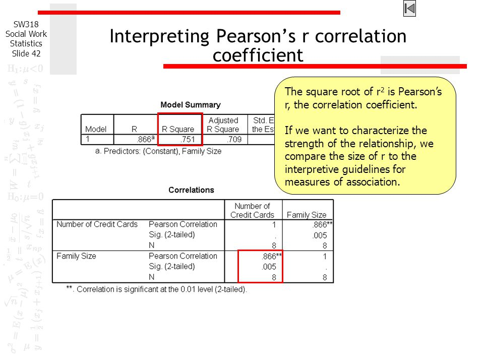 Regression Analysis We have previously studied the Pearson's