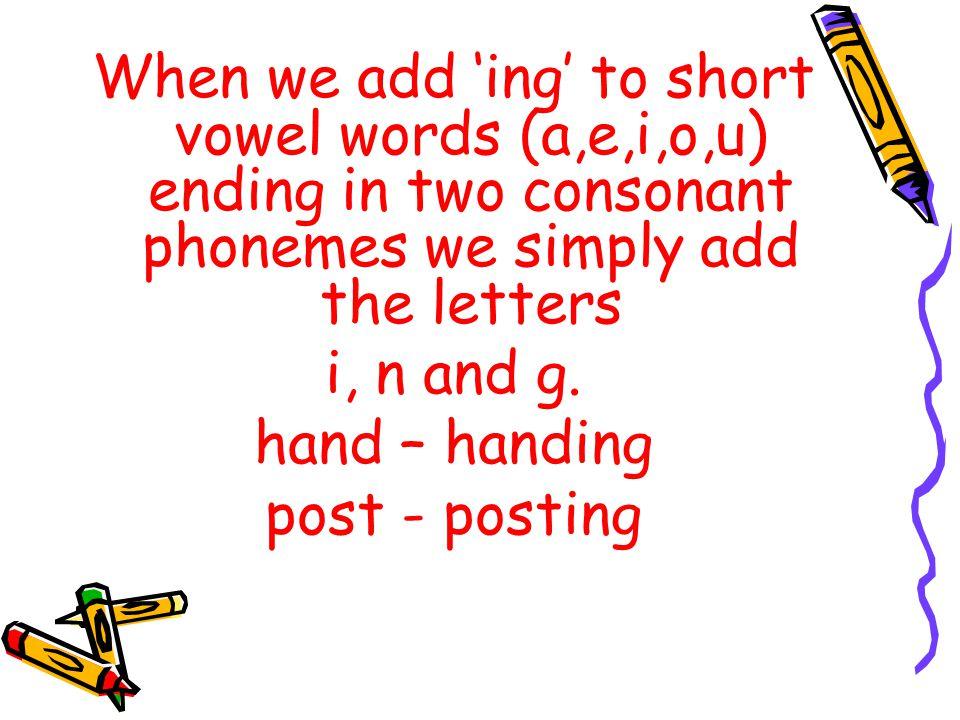Adding ing to words Hgbhgb ppt