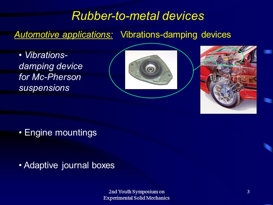 Rubber-to-metal devices