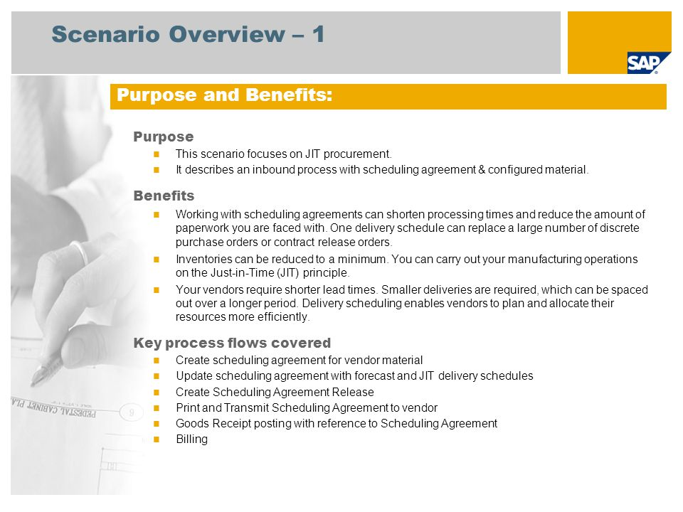 Purchasing Scheduling Agreement With Configured Materials Sap Best
