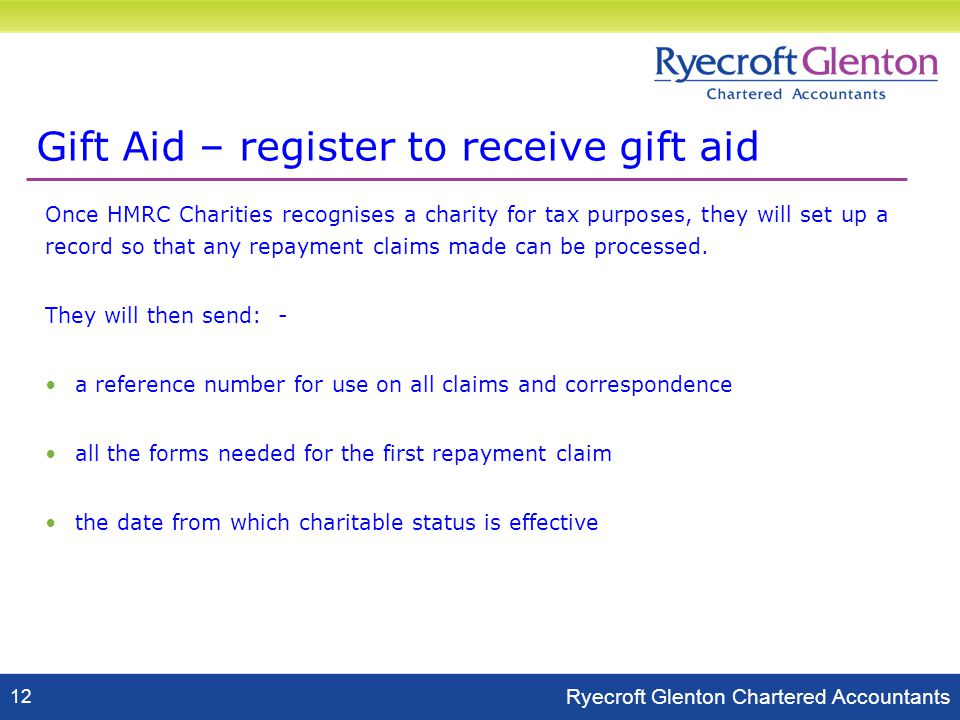 Detlev anderson charities partner ryecroft glenton 12 june ppt download 14 gift negle Images
