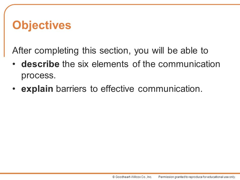 describe the communication process