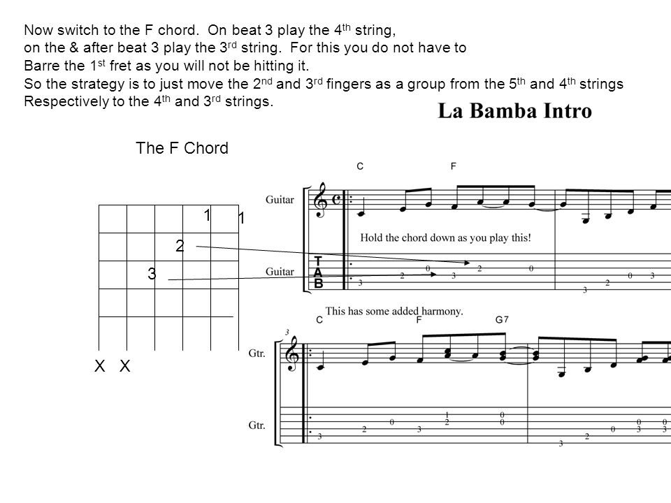 La Bamba Using Chords For Riffs Ppt Video Online Download
