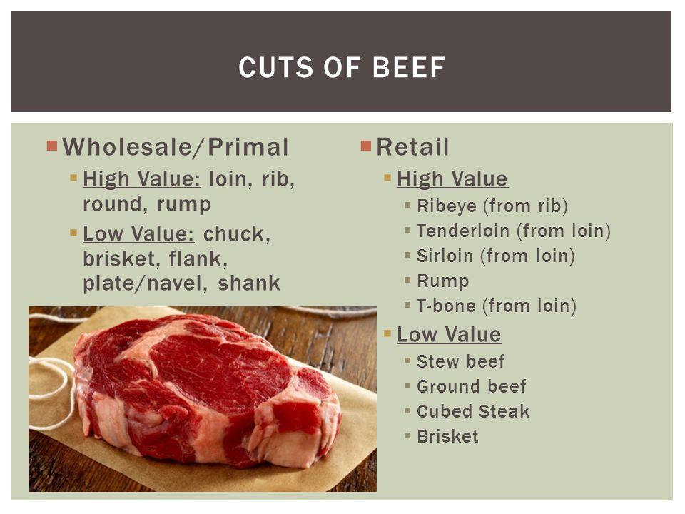 OBJECTIVE 3 02 RECALL RETAIL AND WHOLESALE CUTS OF MEAT - ppt download