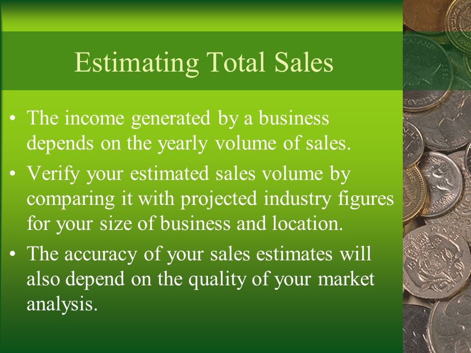Estimating Total Sales